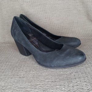 BOC Born Black Nubuck Block Heel Comfort Pumps